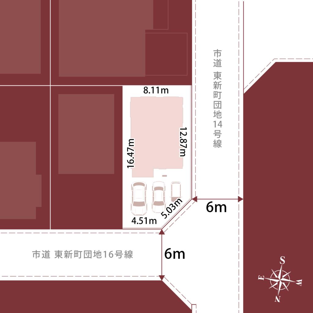 東新町1丁目建売計画B境界確認図